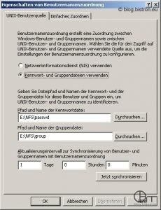 Windows Server 2003 R2: Konfiguration Benutzernamenzuordnung - Kennwort- und Gruppendatei
