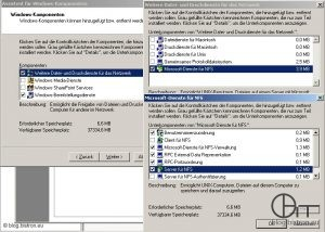 Windows Server 2003 R2: Installation NFS-Server