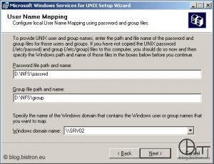 Windows Server 2003: Installation NFS-Server - User Name Mapping 2