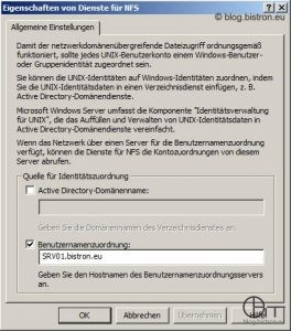 Windows Server 2008/2008 R2: Identitätszuordnung - User Name Mapping-Server