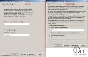 Dienste für NFS: Konfiguration Active Directory-Suche/Identitätszuordnung