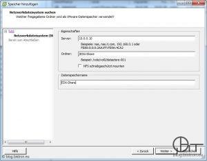 ESXi: NFS-Freigabe als Datenspeicher hinzufügen (2)