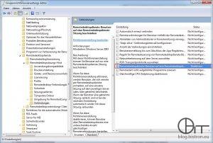 """GPO """"Remotedesktopdienste-Benutzer auf eine Remotedesktopdienste-Sitzung beschränken"""""""
