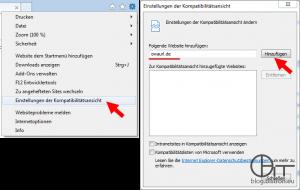Internet Explorer 11: OWA-Domäne zur Kompatibilitäsansicht hinzufügen