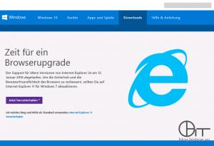 Internet Explorer End-Of-Life Upgrade Benachrichtigung: Zeit für ein Browserupgrade