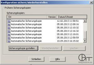 IIS6 Konfigurationssicherung erstellen (1)