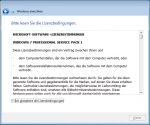 OOBE Windows 7 - 4. Lizenzvertrag