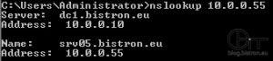 Nslookup - Erfolgreicher Reverse-Lookup der vCenter Server IP
