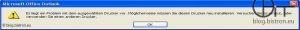 Outlook 2007: Problem mit dem ausgewählten Drucker - Seitenansicht (KB2509470)