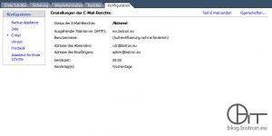 VDR 2.0: Konfiguration E-Mail-Report (2)
