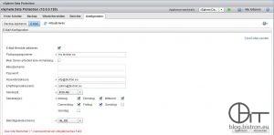 vSphere Data Protection: Konfiguration E-Mail-Berichterstattung