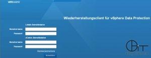 vSphere Data Protection: Anmeldung Wiederherstellungsclient (Webinterface für FLR)