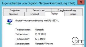 Windows 2012 E1000/E100e Standatd-Treiber (Intel(R) 82574L, Version 12.0..150.0)