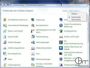 """Windows 7 Systemsteuerung: """"klassische"""" Ansicht"""