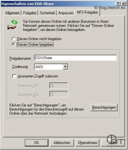 Windows NFS-Freigabe (1)