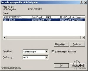 Windows NFS-Freigabe (2)